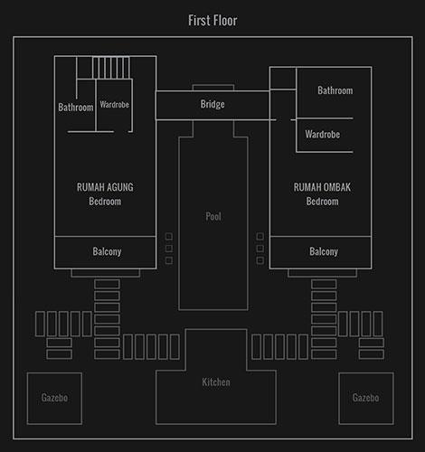 Villa Bukit Lembongan room layouts